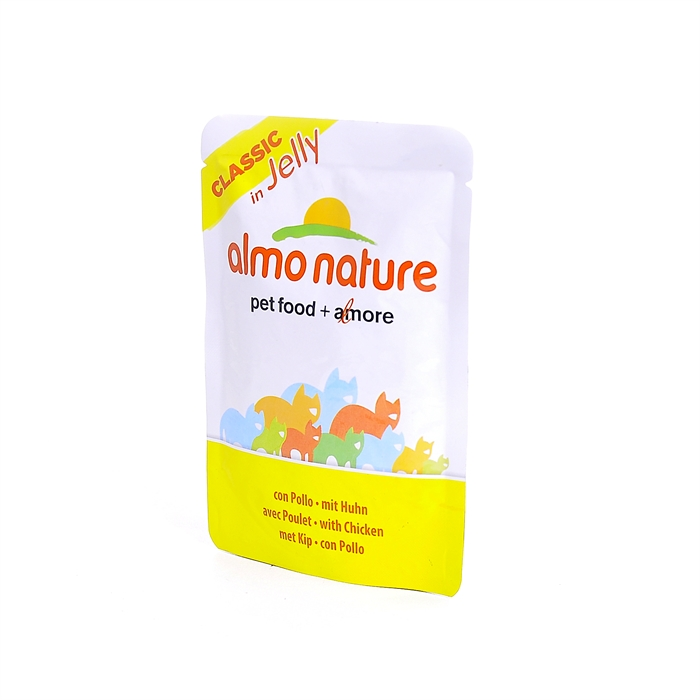 Almo Nature паучи курица в желе для кошек, Classic Nature Jelly - Cat Chicken