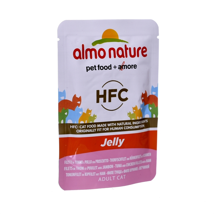 Almo Nature паучи тунец, курица и ветчина в желе для кошек, Classic Nature Jelly - Tuna, Chicken and Ham