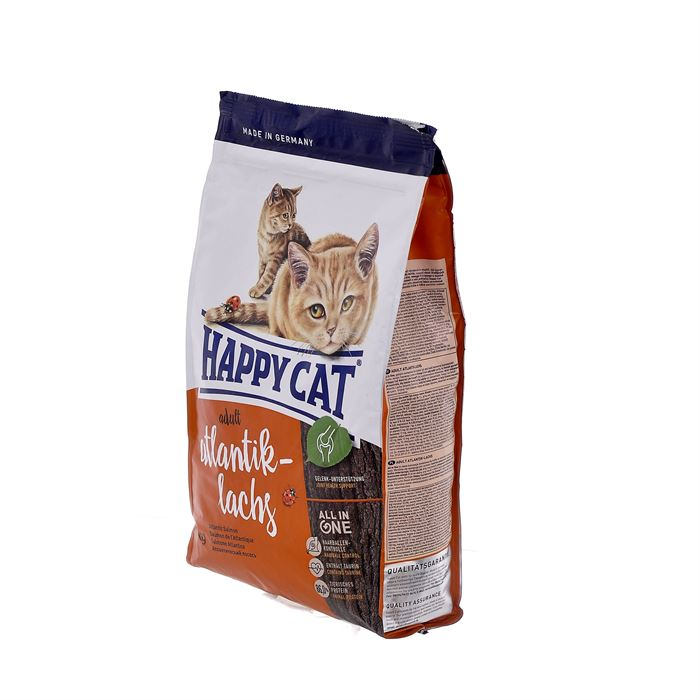 Корм Happy cat для кошек с атлантическим лососем, Adult Mit Atlantik Lachs