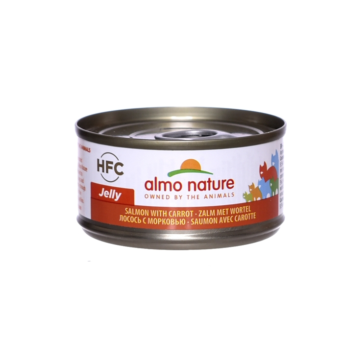Almo Nature консервы для кошек с лососем и морковью, 75% мяса , Legend HFC Adult Cat Salmon&Carrot
