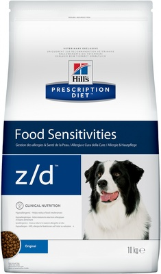 Корм Hill's Prescription Diet z/D для собак лечение острых пищевых аллергий, Z/D Canine Ultra Allergen-Free